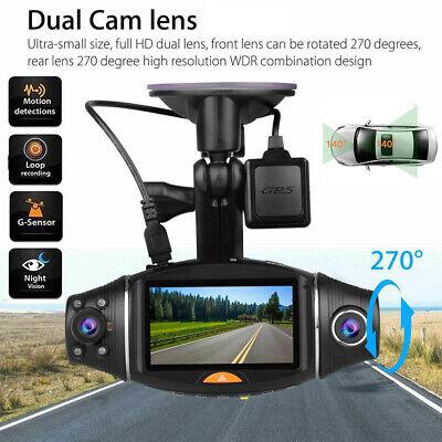 Dual Lens GPS Car DVR Camera Vehicle Dash Cam Video Recorder G-sensor