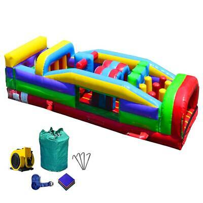 Commercial Inflatable Bounce House Retro Obstacle Course 7 Element -