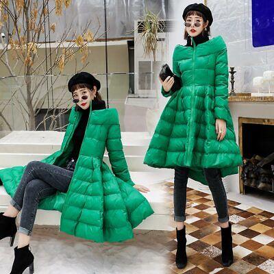 Winter Womens A Line Bubble Jacket Down Cotton Outwear Coat Fashion Slim Jackets