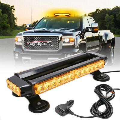 30 LED Emergency Light Bar Flash Warning Roof Strobe Beacon Amber Lights Top Car