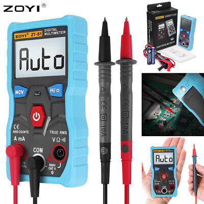 Zoyi Zt-s1 4000 Counts Digital Hand-multimeter Ohmmeter Volt Ac Dc Tester Meter