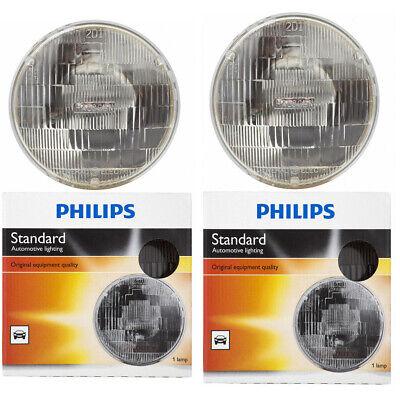 2 pc Philips High Low Beam Headlight Bulbs for Ford Anglia Bronco C Club ac