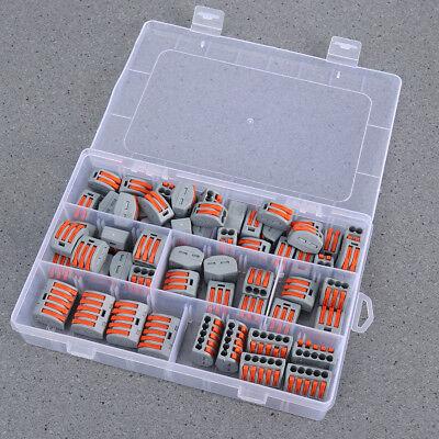 60 Stück 2/3/5 Loch Anschlussleiter Klemmenblock Elektrischer Kabelstecker Draht
