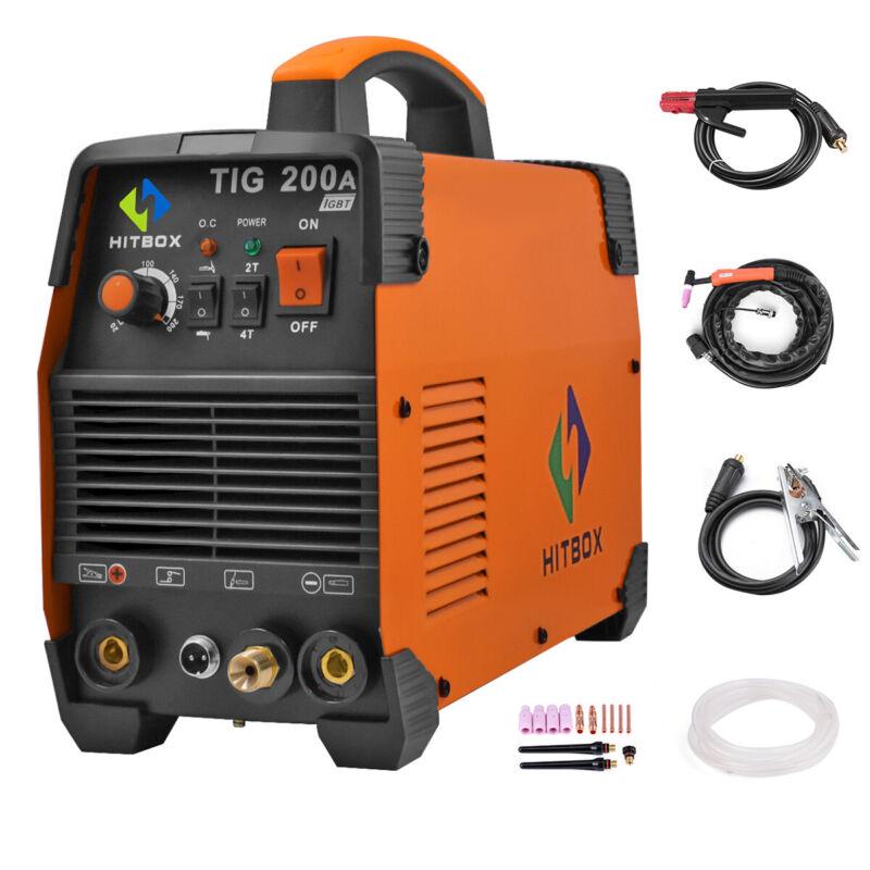 HITBOX TIG Welder 220V TIG MMA TIG Stick IGBT High Frequency  Welding Machine