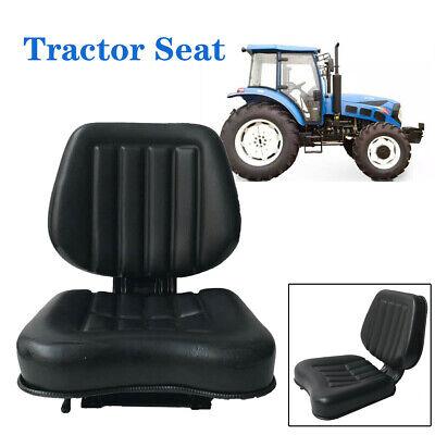 Seat For Forkliftstractorlawn Mower Black Iron Frame Pvc Leather Sponge Filler