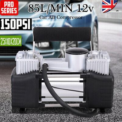 Portable 12V Electric Car Tyre Inflator 150PSI Air Compressor Pump Heavy Duty