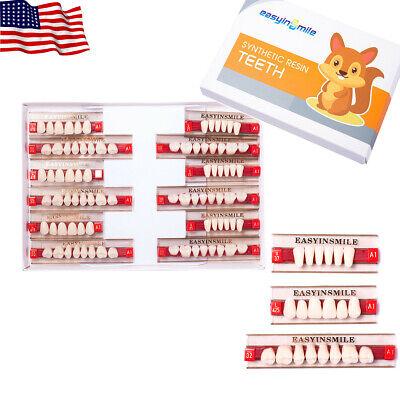 Easyinsmile 1 X Acrylic Resin Denture Dental Full Setupperlower Teeth Color A1