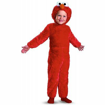 Sesame Street Elmo Deluxe Comfy Fur Costume for Toddler Small - Sesame Street Costumes For Toddlers