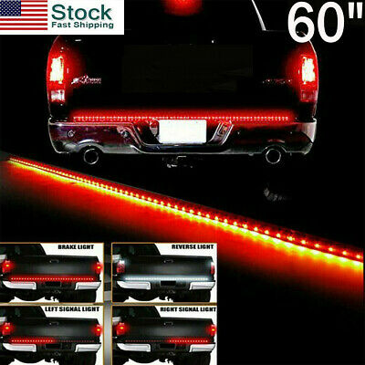 60 LED Strip Tailgate Light Reverse Brake Signal Bar for Dodge Chevy Silverado