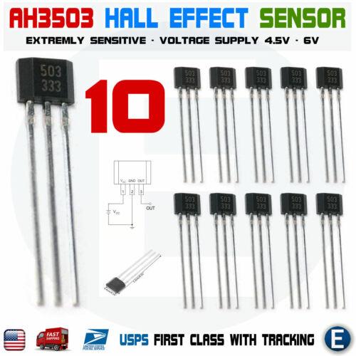 10pcs AH3503 3503 UGN3503 Linear Hall Effect Sensor Hall Circuit Motor TO-92UA