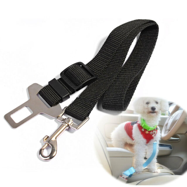 """Dog Safety Seat Belt Restraint 12""""-24"""" For Car Van Lock Adjustable Pet Lead"""