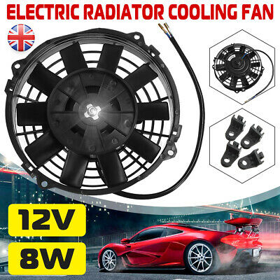 7'' 7 Inch 12 Volt 80W Electric Cooling Fan Push Pull For Radiator  UK