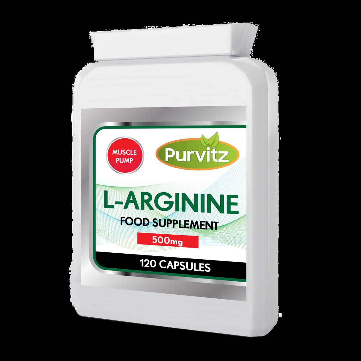 L-Arginine HCL 500mg Argi 120 Capsules L Arginine Nitric Oxide Increase Pump UK