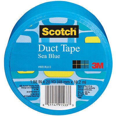 Blue Duct Tape (Scotch Duct Tape, Sea Blue, 1.88-Inch by 20-Yard Solid)