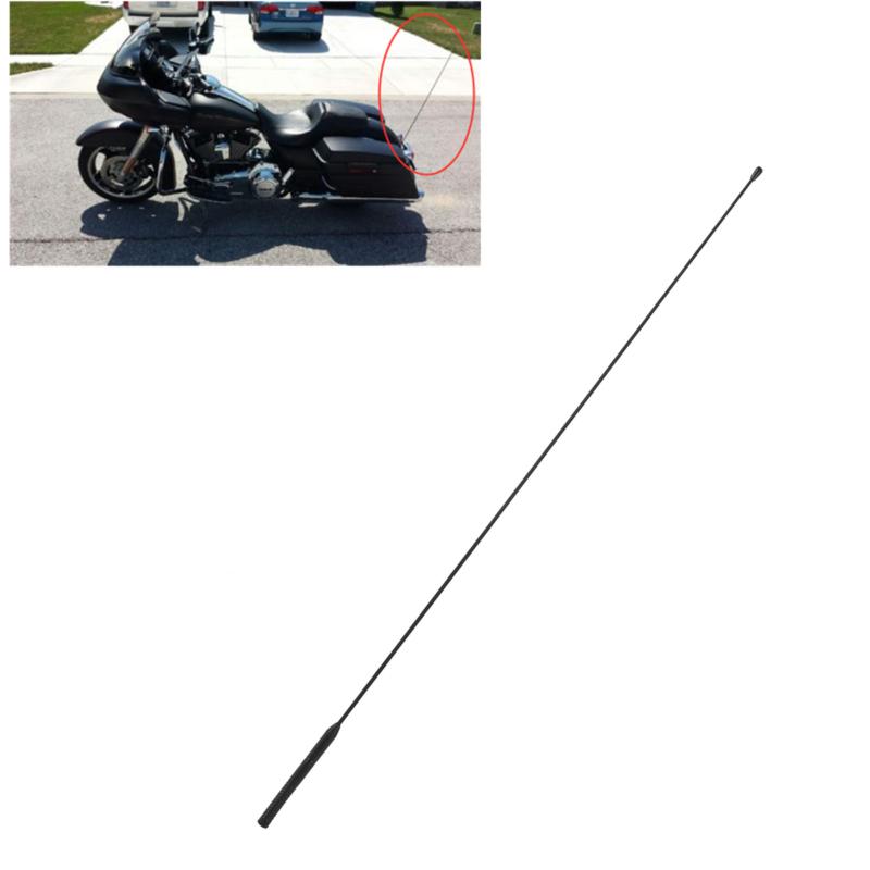 Black AM FM Antenna For Harley Street Road Electra Glide Road King 1986-2013 12