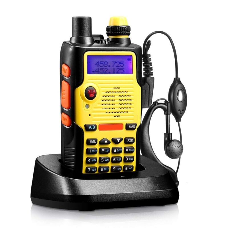 BaoFeng BF-F8HP (UV-5R 3rd Gen) 8-Watt Dual Band Two-Way Radio (136-174MHz VHF & 400-520MHz UHF) Includes Full Kit with Large Battery BF-F8HP