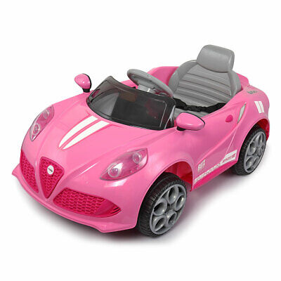 6V Kids Ride on Cars with Remote Control MP3 Electric Car Toys Girls Gift Pink