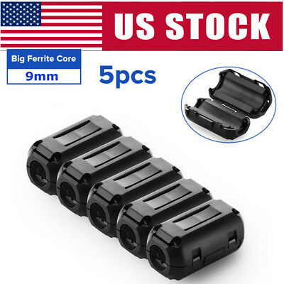 5x 9mm Ferrite Ring Core Rfi Emi Noise Suppressor Cable Clip Filter Fr 5mm Cable