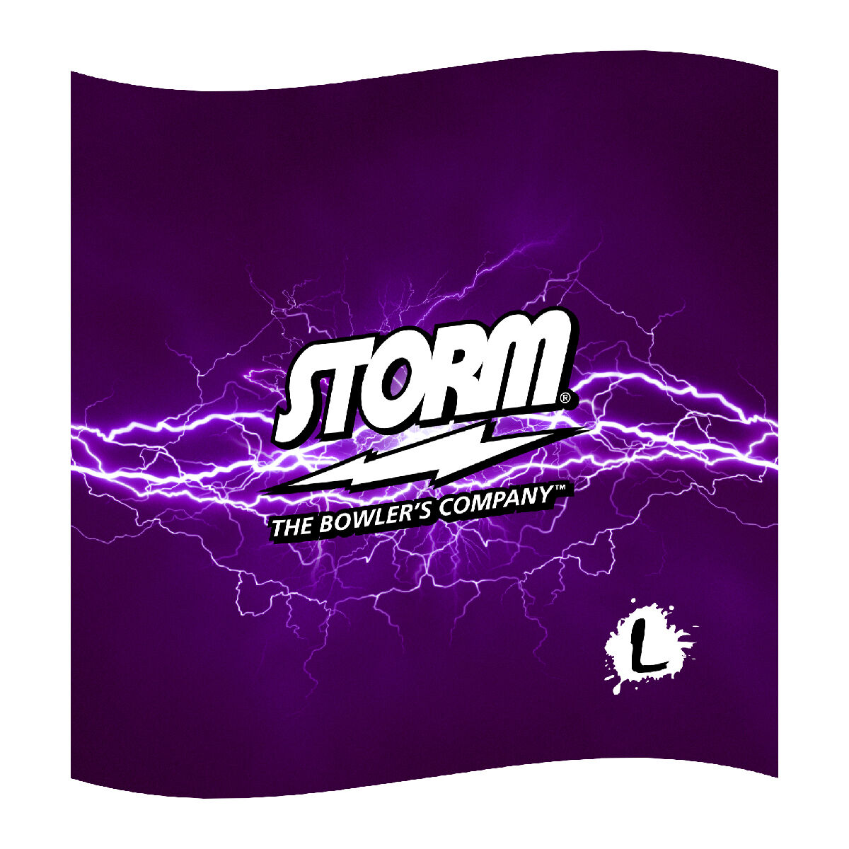 """Storm Bowling Dye-sublimated Microfiber Towel - 16""""x16"""" High Quality Print"""