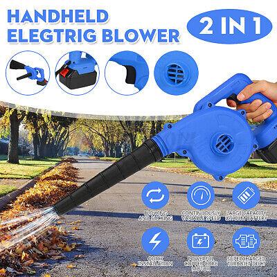 220V Li-ion Battery Handheld Cordless lightweight Leaf Blower Vacuum Garden !