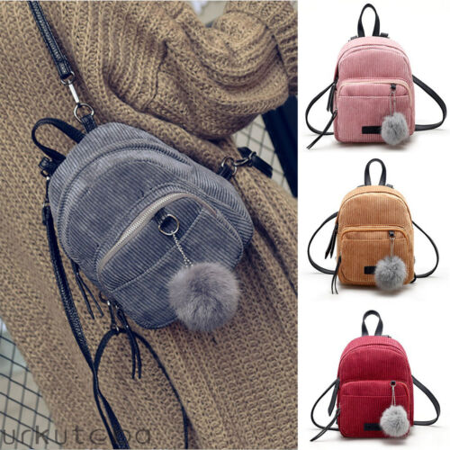 Damen Mini Rucksack Mädchen Schultaschen Kleine Reise Handtasche Umhängetasche