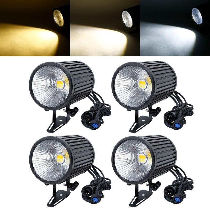 4PCS 200W Waterproof DMX512 Audience Light COB LED Stage Par Light With Hook