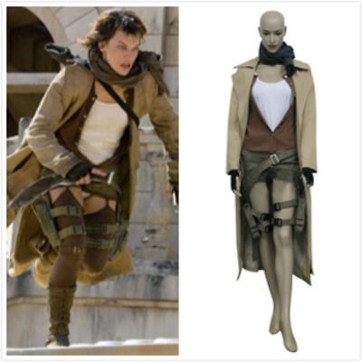 Hot! Resident Evil Extinction Alice Cosplay Costume Halloween Jacket FFG.1024