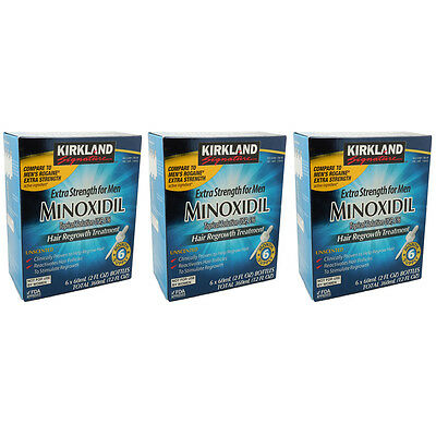KIRKLAND MINOXIDIL 5% MENS HAIR LOSS REGROWTH TREATMENT 18 MONTHS | Exp 06/2019