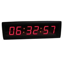 1.8 Red LED Wall Clock For Home Office LED Count Down Up Timer With Remote