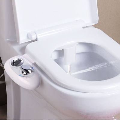 Adjustable Self~Cleaning Nozzle,Non~Electric Water Spray Bidet Toilet Seat