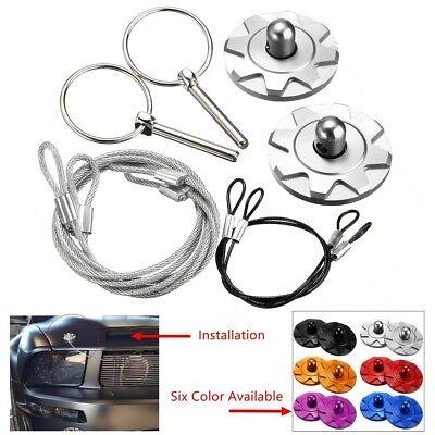 2x Universal CNC Car Vehicles Sport Racing Bonnet Hood Pin Lock Appearance covid 19 (2004 Mustang Hood Pin coronavirus)