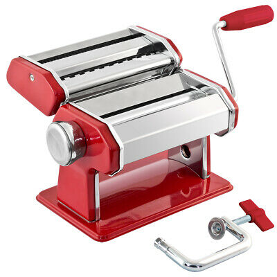 bremermann Nudelmaschine Edelstahl/Metall rot Pastamaschine, Spaghetti, Lasagne