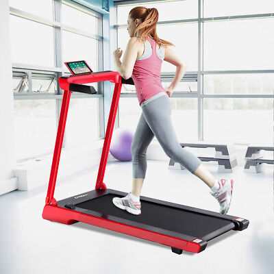 Folding Electric Treadmill 2.25Hp LED Display APP Free Installation Running