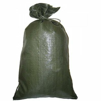 SANDBAGS LOT OF 50 HEAVY DUTY 14 X 26 GREEN SAND BAGS ROUGHLY HOLDS  50# BAG