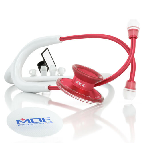 MDF747XPR29 Acoustica® Deluxe Lightweight Dual Head Stethoscope - Red and White