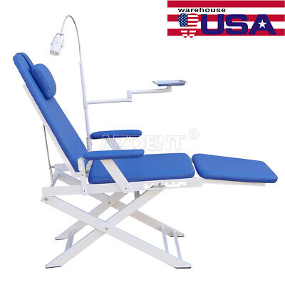Usa Dental Mediacal Protable Simple Folding Pu Chair With Rechargeable Led Light