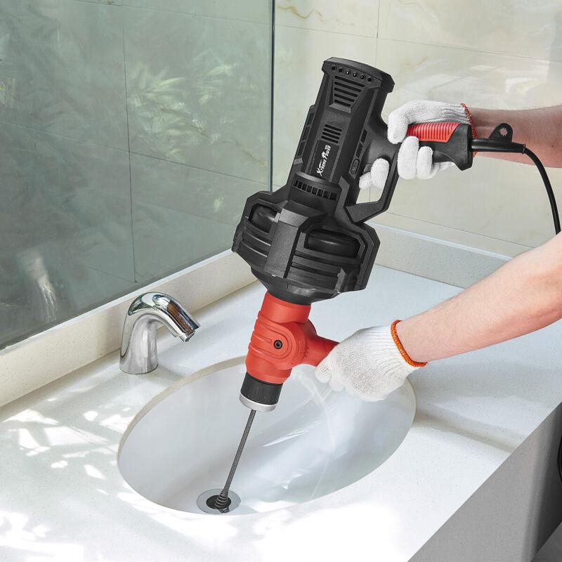 Portable 25ft Handheld Plumbing Snake Auger Drainer Dredger Cleaner Drain Unclog