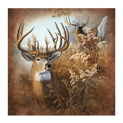 "New Deer 70"" Fabric Bath Shower Curtain Rustic Bathroom Hunting Cabin/Home Decor"