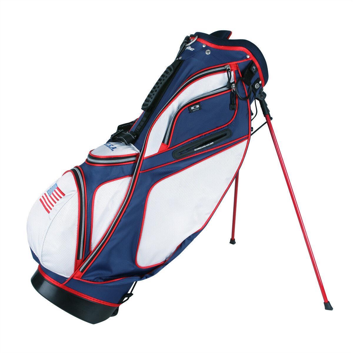 Powerbilt TPS Dunes USA Flag Stand Golf Bag - NEW!