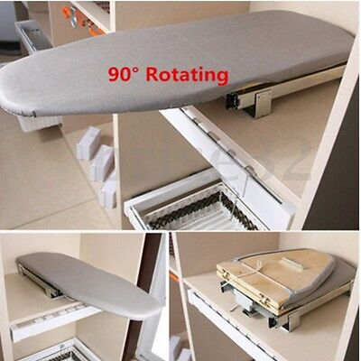 Knock Out Folding Ironing Board Plate Car Carbinet Drawer Mounted with Cover
