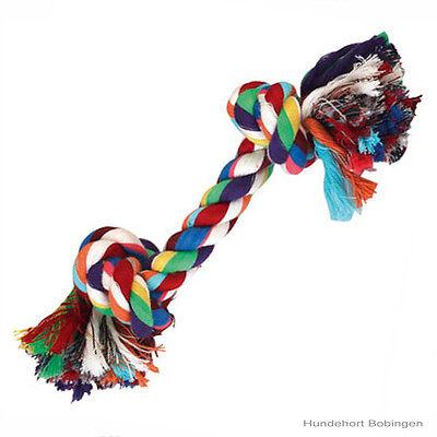 3 X Hundespielzeug, Baumwollknoten - Zerrseil-Zahnknoten - Knotenseil  ca. 20 cm