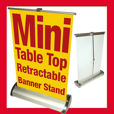 Custom Mini Table Top Retractable Banner Stand 11.5x16.5 With Printed Banner