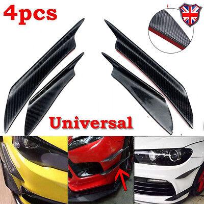 4 X Universal Car Carbon Fiber Style Front Bumper Wing Spoiler Fin Splitter EVO