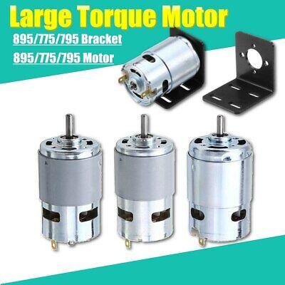 High Power Large Torque Motor 775 795 895 Dc 12v24v 3000-12000rpm Bracket New