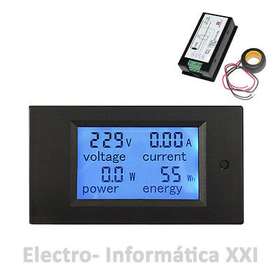 Contador Electrico Digital Medidor de Consumo Voltaje Amperimetro 100A 80-260V