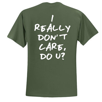 New  I Really Dont Care Do You  Trump Back Or Front Print  T Shirts S 5Xl