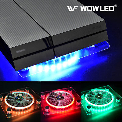 USB LED Multi-color RGB Cooler Cooling Fan Stand for PS4 Pro XBOX One X Laptop
