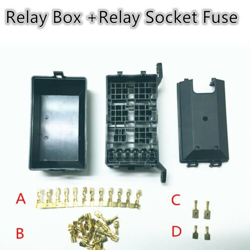 5 Road Relay Socket Fuse Relay Box Relay Holder 6 Car Automotive Insurance