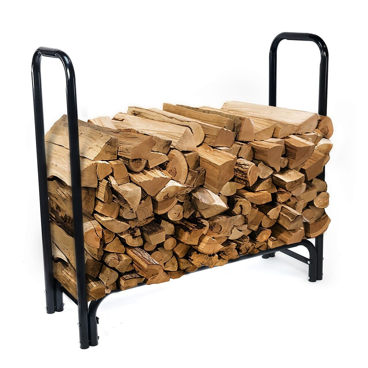 Feet outdoor heavy duty steel firewood log rack wood
