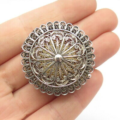 925 Sterling Silver Antique Filigree Box / Cases